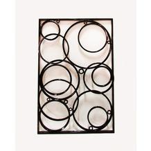 SIT THIS & THAT Wand-Dekoration Fahrradfelgen ineinander schwarz seidenmatt