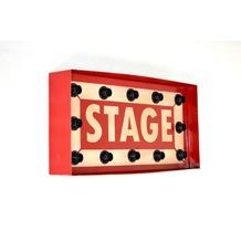 SIT THIS & THAT Wandleuchte Leuchtpanel Stage, für 12 Leuchtmittel rot/weiß