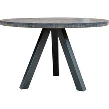 SIT TISCHE & BÄNKE Tisch 120x120 cm Platte grau, Beine antiksilber