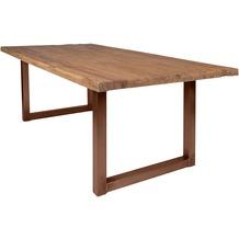 SIT TISCHE Tisch 180x100 cm, recyceltes Teak natur Platte natur, Gestell antikbraun