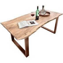 SIT TISCHE Tisch 220x100 cm, Akazie natur Platte natur, Gestell antikbraun