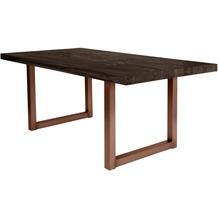 SIT TISCHE Tisch 240x100 cm, Balkeneiche carbon-grau Platte carbon-grau, Gestell antikbraun