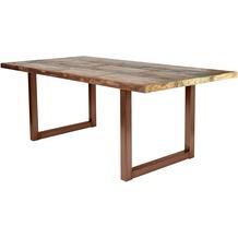 SIT TISCHE Tisch 240x100 cm, buntes Altholz Platte bunt lackiert, Gestell antikbraun