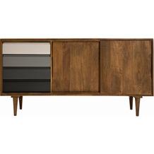 Tom Tailor Sideboard 2 Türen, 4 Schubladen Korpus natur, Schubladen in Grautönen
