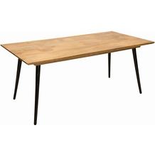 Tom Tailor Tisch 180x90 cm  Platte natur, Beine schwarz Esstisch