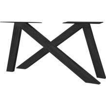 SIT TOPS & TABLES Tischgestell 2er - Set aus Eisen antikschwarz