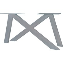 SIT TOPS & TABLES Tischgestell 2er - Set aus Eisen antiksilber
