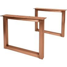SIT TOPS & TABLES Tischgestell klaschisch antikbraun für Platten von 180 bis 240 cm antikbraun