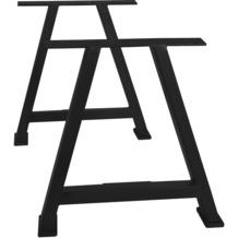 SIT TOPS & TABLES Tischgestell antikschwarz für Platten von 180 bis 240 cm A-förmig
