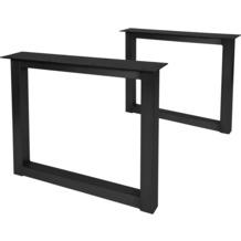 SIT TOPS & TABLES Tischgestell antikschwarz für Platten von 180 bis 240 cm quadratisch