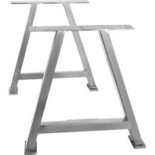 SIT TOPS & TABLES Tischgestell antiksilber für Platten von 180 bis 240 cm antiksilber, A
