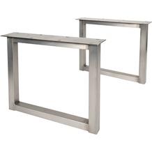 SIT TOPS & TABLES Tischgestell antiksilber für Platten von 180 bis 240 cm antiksilber, O