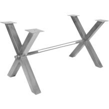 SIT TOPS & TABLES Tischgestell antiksilber für Platten von 180 bis 240 cm antiksilber, X