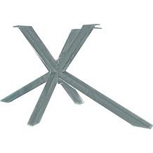 SIT TOPS & TABLES Tischgestell sternenförmig aus Eisen antiksilber