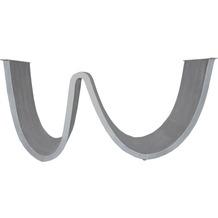 SIT TOPS & TABLES Tischgestell wellenförmig aus Eisen antiksilber
