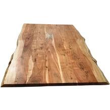 SIT TOPS & TABLES Tischplatte 160x85 cm Akazie natur, Baumkante wie gewachsen, Plattenstärke 36 mm natur
