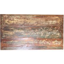 SIT TOPS & TABLES Tischplatte 160x85 cm Altholz, bunt lackiert, Plattenstärke 4 cm, aufgedoppelt Sheesham natur