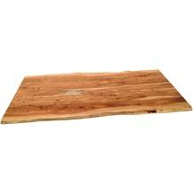 SIT TOPS & TABLES Tischplatte 200x100 cm Akazie wie gewachsen, Plattenstärke 56 mm natur