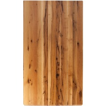 SIT TOPS & TABLES Tischplatte 200x100 cm Balkeneiche natur geölt, Plattenstärke 60 mm natur
