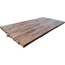 SIT TOPS & TABLES Tischplatte 200x100 cm Teak natur, Plattenstärke 50 mm dunkel
