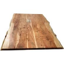 SIT-Möbel TOPS & TABLES Tischplatte 220x100 cm Akazie wie gewachsen, Plattenstärke 56 mm natur