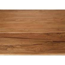 SIT TOPS & TABLES Tischplatte 220x100 cm recyceltes Teak, Plattenstärke 50 mm natur