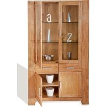 SIT-Möbel ZEUS Vitrine 2 Holztüren, 2 Glastüren, 2 Schubladen, natur