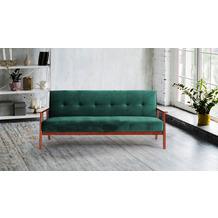 SIT 4SOFA Schlafsofa, grün 3-Sitzer, mit Relaxfunktion Gestell kirschbaumfarbig, Bezug grün