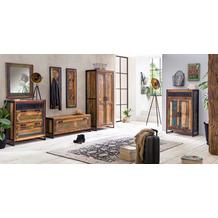 SIT BALI Schrank 2 Türen bunt mit antikschwarz