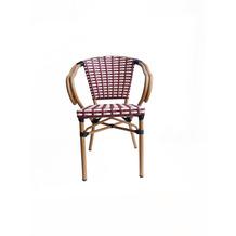 SIT &chairs Armlehnstuhl, 2er-Set Aluminium, Polyrattan beige, rot 02472-25