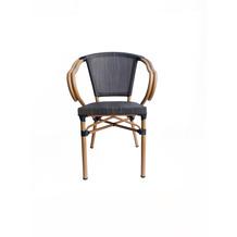 SIT &chairs Armlehnstuhl, 2er-Set Aluminium, Stoff beige, dunkelbraun 02467-30