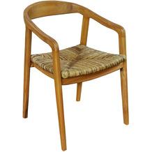 SIT &chairs Armlehnstuhl Teak, Rattan natur 02464-01