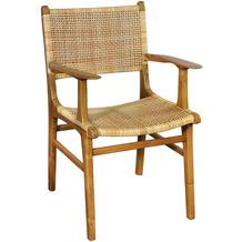 SIT &chairs Armlehnstuhl Teak, Rattan natur 02465-01
