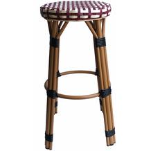 SIT &chairs Barhocker Aluminium, Polyrattan beige, rot 02471-25