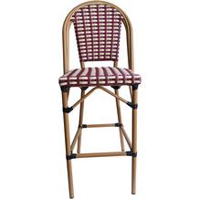 SIT &chairs Barhocker Aluminium, Polyrattan beige, rot 02473-25