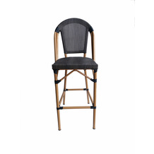 SIT &chairs Barhocker Aluminium, Stoff beige, dunkelbraun 02469-30