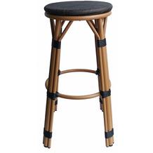 SIT &chairs Barhocker Aluminium, Stoff beige, dunkelbraun 02470-30