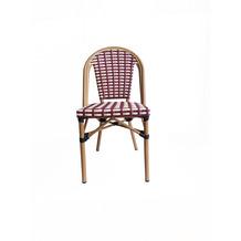 SIT &chairs Stuhl, 2er-Set Aluminium, Polyrattan beige, rot 02468-25