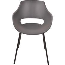 SIT &CHAIRS Stuhl, 2er-Set grau Sitz grau, Beine schwarz