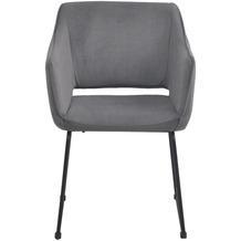 Tom Tailor Sit & Chairs Armlehnstuhl, 2er-Set Gestell Stahl, Bezug Stoff Gestell schwarz, Bezug basalt 02439-04