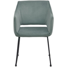Tom Tailor Sit & Chairs Armlehnstuhl, 2er-Set Gestell Stahl, Bezug Stoff Gestell schwarz, Bezug meergrün 02439-26