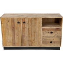 SIT Sideboard Recycelte Pinie, Rückseite und Schubladen aus Sperrholz natur
