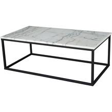 SIT this & that Couchtisch Platte Marmor, Gestell Metall Platte weiß, Gestell schwarz 01053-31