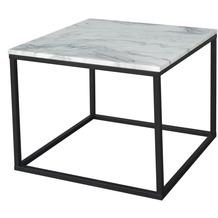 SIT this & that Couchtisch Platte Marmor, Gestell Metall Platte weiß, Gestell schwarz 01053-30