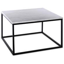 SIT THIS & THAT Couchtisch quadratisch, Gestell Metall, Platte Marmor Platte weiß, Gestell schwarz