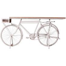SIT THIS & THAT Deko-Tisch aus recyceltem Fahrrad mit Ablagekorb