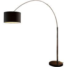 SIT THIS & THAT Stehleuchte 210 cm schwarz Dimmschalter, Ø Lampenschirm 35 cm, echter Marmorfuß schwarz
