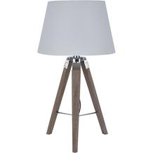 SIT THIS & THAT Tischleuchte weiß Gestell rustikal, Schirm weiß