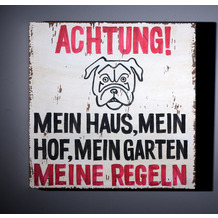 SIT THIS & THAT Wall-Art Achtung! Mein Haus… bunt