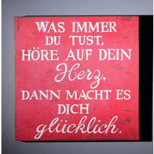 """SIT THIS & THAT Wall-Art Was immer du tust""""? rot"""
